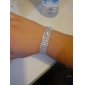 Four Layers Ladies' Rhinestone Tennis Bracelet In Silver Alloy