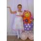 Copil Kid Girl Lovely Print Rose Flori șifon Vest fusta Bow Princess Dress