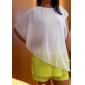 One & Only femei New Style Batwing Sleeve șifon Shirt solid Culoare BR2025853