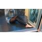Women's Imitation Leather Mesh Spliced Leggings