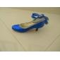 Pumpar / Heels ( Svart/Blå/Elfenben/Silver/Guld/Champagne ) - till KVINNOR Taxklack - Klackar/Stängd tå - i Glittrande glitter