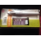 Batterie Percer Blanc Nail Art Gel Outip Pointe acrylique avec 5 forets et 1 sachet (Propulsé par 2 piles AA)