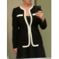 Women's Office Fitted Black And White Blazer