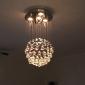 Lampe suspendue ,  Contemporain Chrome Fonctionnalité for Cristal Métal Salle de séjour Chambre à coucher Salle à manger