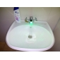 changement de couleur conduit une finition chromée buse du pulvérisateur robinet de qualité abs (compatibilité universelle)