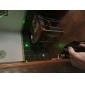 holyfire 301 532nm synlig justerbar stråle grön laser penna med batteriladdare - svart