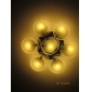 FINSTERWALDE - Lustre Moderne Acrylique Fini Chromé - 7 slots à ampoule
