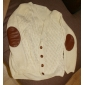 Women's New Patch Loose Knit Cardigan Sweater with Buttons