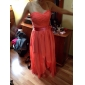 Short/Mini / Asymmetrical Chiffon Bridesmaid Dress - Plus Size / Petite A-line / Princess Strapless / Sweetheart