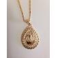 U7 allah hängsmycke kvinnor / försäljning 18k äkta guld guldpläterade Rhinestone islamiska halsband