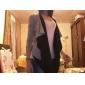 moda maneca lunga chiffon de culoare solidă îmbrăcăminte exterioară asimetric pentru femei