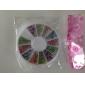 2mm Mixed Color Rundhet Rivet nagel konst Dekorationer