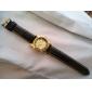 Elegante orologio analogico, da uomo, cinturino in pelle PU - Nero