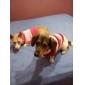 Hundar Tröjor Röd Hundkläder Vinter Stribet