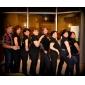 Kvinnor och Barn Satin Hollow-out Cross Stripe Chunky Heel Sandaler Dansskor (fler färger)