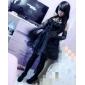 Une Pièce/Robes Punk Lolita Cosplay Vêtrements Lolita Couleur Pleine Sans manche Court Robe Manche Pour Coton Polyester