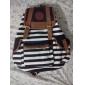 Women's Unisex Backpack Canvas Stripe Leisure Bags School Bag