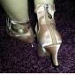 Chaussures de dansePersonnalisables-Talon Personnalisé-Satin-Latine Salsa