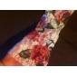pentru femei a crescut de imprimare dantelă tiv bluză