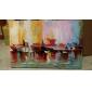 olieverfschilderijen ene paneel abstract boten op de wal met de hand beschilderd doek klaar om op te hangen