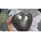Personalized Vintage Tutania Floral Theme Heart Design Jewelry Box