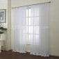 land två paneler blom- botaniska vita sovrum poly bomullsblandning skira gardiner nyanser