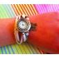 vågar u äkta läder fjäril hänge armband armbandsur