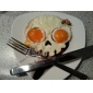 Skull Shape Egg Frying Ring, Silicone Material, Random Colors