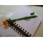 vackra fem kronblad designen svart bläck mjukt gummi gel penna (slumpmässig färg)