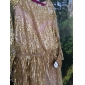 Homecoming Formal Evening/Prom/Military Ball Dress - Gold Plus Sizes Sheath/Column Bateau Floor-length Tulle