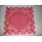 Rouge Polyester Carré Nappes de table