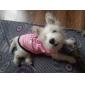 Стильная футболка для собак (розовый, разные размеры)