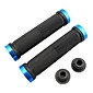 Vélo VTT Ultralight caoutchouc Lock-on Grips (Black & Blue)