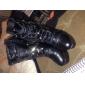 Stövlar ( Svart ) - till KVINNOR - Tossor / kängor - med Chunky klack - Fashion Boots/Rundtå - i Läderimitation