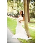 Trumpet/Mermaid Plus Sizes Wedding Dress - Ivory Court Train Strapless Satin/Organza
