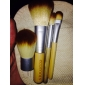 4pcs spazzola in nylon con manico di bambù