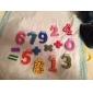 Math coloré drôle Symbole bois Aimants jouet éducatif (Numéro 0-9 et signe)