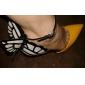 Pantofi pentru femei - Imitație de Piele - Toc Stiletto - Tocuri / Vârf Ascuțit - Pantofi cu Toc - Rochie - Galbem / Violet
