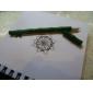 la conception de bambou réaliste encre noire stylo gel