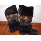 Stövlar ( Svart/Brun/Purpur/Beige ) - till KVINNOR - Låga stövlar - med Chunky klack - Rundtå/Fashion Boots - i Läderimitation