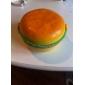 plast söta runda hamburgare form matlåda gåva med gaffel och sked
