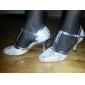 Chaussures de danse (Rouge/Argent) - Personnalisable - Talons personnalisés - Similicuir - Moderne
