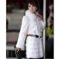 coat_125 blană de vulpe XT (negru, alb)