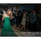 Vestido - Verde Escuro Festa Formal/Baile de Formatura/Baile Militar Linha-A/Princesa Sem Alça Sweep / Brush Train ChiffonTamanhos