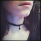 handgjorda svart sammet klassiska lolita halsband med hänge
