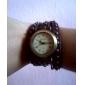 vågar u kvinnors pu analog kvarts armband klocka