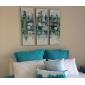 HANDMÅLAD Abstrakt / fantasiEuropeisk Stil / Moderna Tre paneler Kanvas Hang målad oljemålning For Hem-dekoration