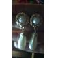 lyckliga docka kvinnors diamonade vattendroppe mönster örhängen
