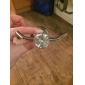 Elegant Silver Kristall Mässing Robe Hook
