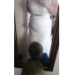 Trumpet/Mermaid Plus Sizes Wedding Dress - White Court Train V-neck Satin
